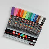 Uni-posca Paint Marker Pen - Extra Fine Point - Set of 12 (PC-1M12C)