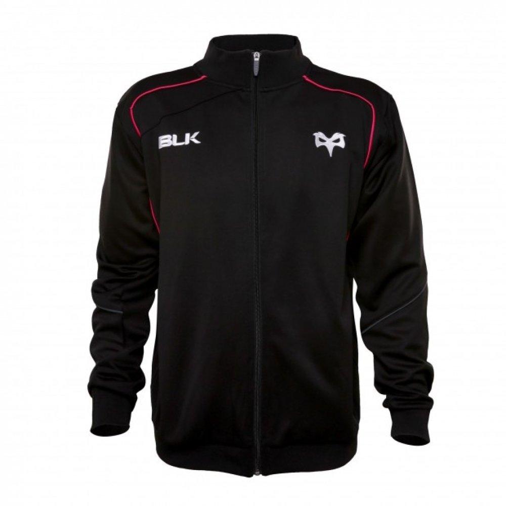 2015-2016 Ospreys BLK Rugby Travel Jacket (黒) ブラック M