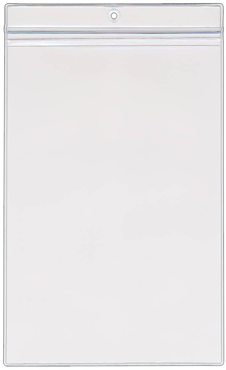 StoreSMART - 6'' x 9'' Zip-Top Pockets - 100-Pack - Clear Vinyl Plastic - R2289ZIPS-100