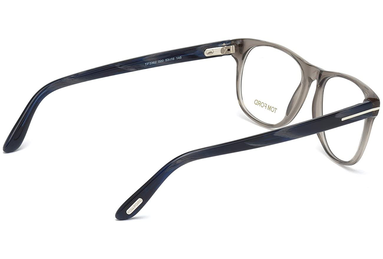 609ee4c2c2645 Amazon.com  Tom Ford Rx Eyeglasses - FT5362 020 - Transparent Grey  (53 16 145)  Clothing