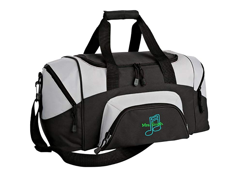 Colorblock Sport Small Duffle Bag Music Note Personalized