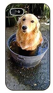 iPhone 6 Case Labrador taking a bath - black plastic case / dog, animals, dogs