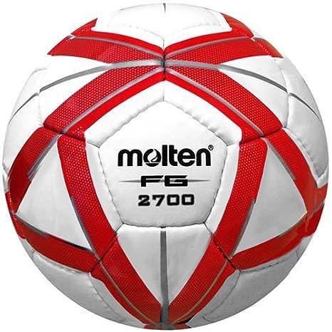 MOLTEN FG diseño de balón de fútbol, Red/Silver: Amazon.es ...