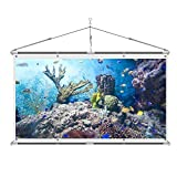 JaeilPLM 100-Inch Wrinkle-Free 4K HD DIY Indoor Projector Screen + Storage Bag Full Set