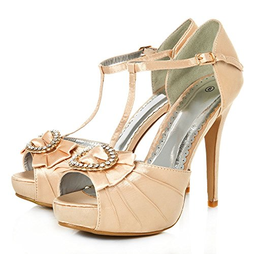 Mujer Satin De Miss Champ Zapatos Diva Tacón qHO67w