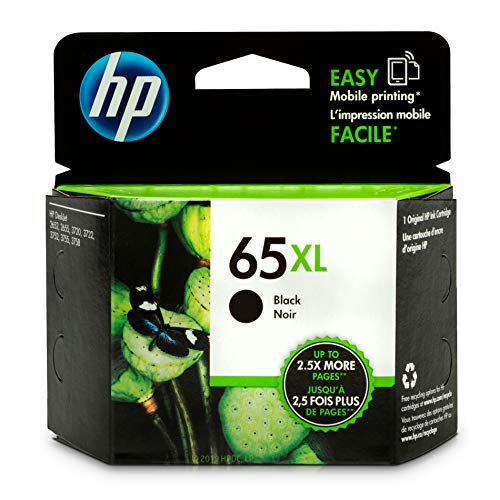 - HP 65XL Black Ink Cartridge (N9K04AN) for HP DeskJet 2624 2652 2655 3722 3752 3755 3758