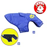 Waterproof Dog Coat, HungMeo Pet Vest Clothes for Dog Cat Puppy Coat Dog Cold Weather Coats Sweatshirt Winter Wear Sweater for Small Medium Large Dogs (1# Chest-13.7″, Blue) For Sale