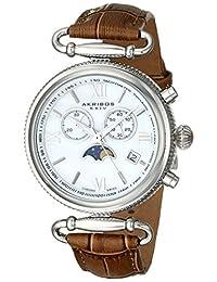 Akribos XXIV Women's AK754BR Leather Brown/Silver Base Metal Watch