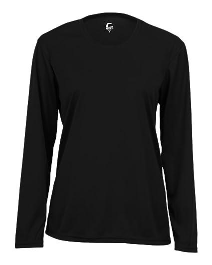 Black Adult 2XL Long Sleeve Performance Wicking Athletic Sports Shirt  Undershirt Jersey 606ba301a29