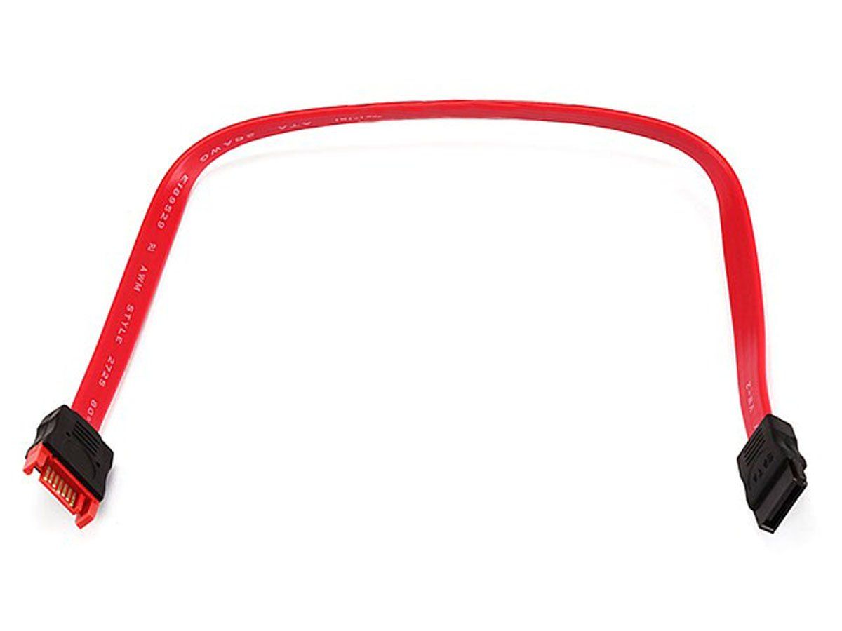 Monoprice 12-Inch SATA Serial ATA Extension Cable, Red (107632)