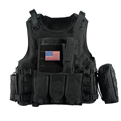 Yakeda army fans tactical vest cs field swat tactical for Housse gilet pare balle