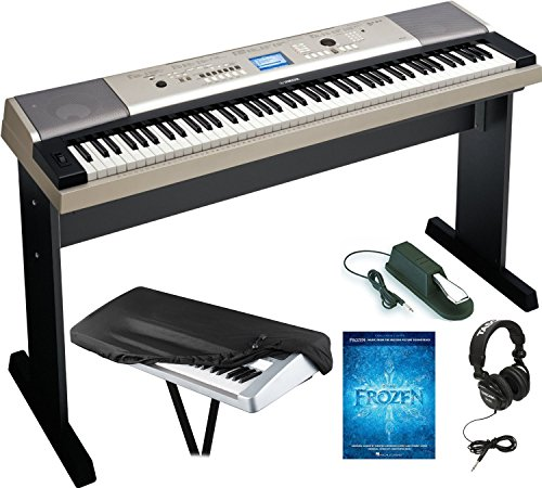Best Review Of Yamaha YPG-535 88 Portable Electronic Keyboard with Headphones, Dust Cover and Sustai...