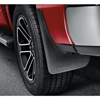 mopar 82215488ab 82215489ab ram 1500 front and rear deluxe molded splash guards with. Black Bedroom Furniture Sets. Home Design Ideas