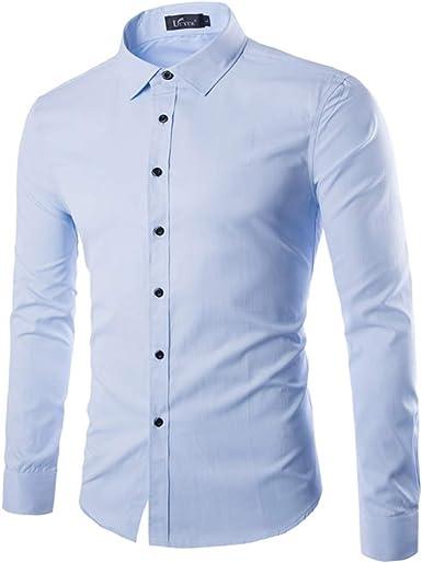 Tobaling - Camisa formal - Con los botones - Liso - Clásico - para hombre: Amazon.es: Ropa y accesorios