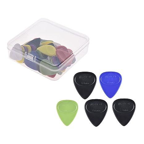 Ammoon 50pcs guitarra Picks púas de celuloide Color mezclado con ...