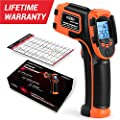 Kizen LaserPro LP300 Infrared Thermometer Non-Contact Digital Laser Temperature Gun with LCD Display -58??1112?(-50??600?) Adjustable Emissivity