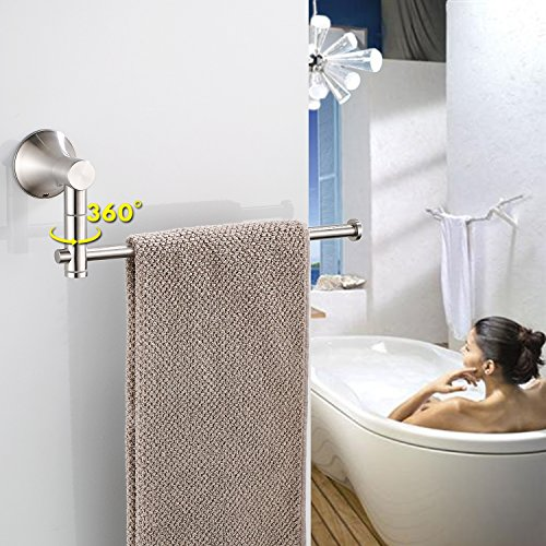 KOOLIFT Bathroom Paper Towel Holder for Bathroom Hardware Shower Towel Rack Rail Wall Mount Modern Open Long Arm Design Stainless Steel Polished Brushed by by KOOLIFT