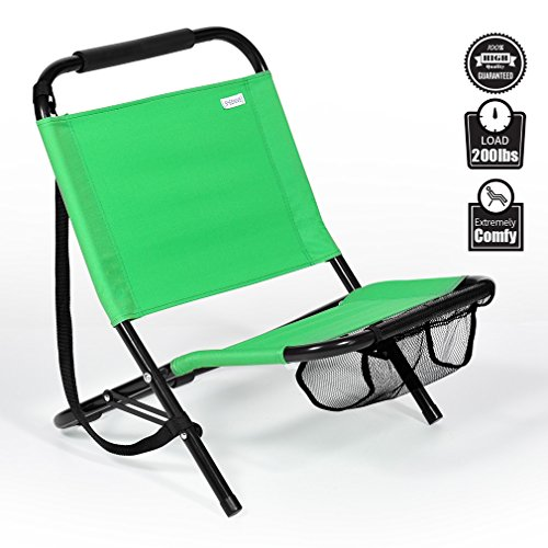 Collapsible Folding Camping Sand Lawn Chair Heavy Duty Beach Outdoor Fishing Travel Sports With Strap For Adults Gift Portable Comfortable Compact By Sheenive