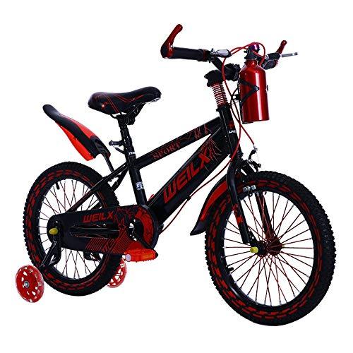 rosso 16Inch LXYFMS Bicicletta for Bambini, Bicicletta for Bambino 14 16 18 Pollici, Passeggino Sollevabile Bicicletta per Bambini (Coloree   blu, Dimensione   18Inch)