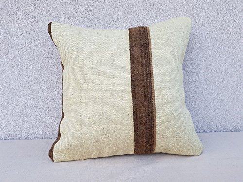 18'' X 18'' Bohemian Decor Handwoven Mud cloth Large Boho Kilim Rug Pillow Cover
