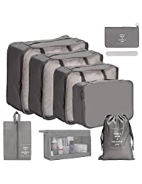 OrgaWise 9 Set Packing Cubes,Luggage Organizer Bag with Shoes Bag Packing Cubes Travel Storage Bags Packing Organizer Set, Multi-Functional Clothing Sorting Packages,Travel Packing Pouches