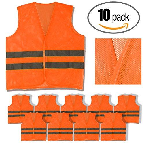 Orange Reflective Mesh Vest - 5