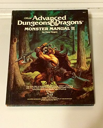 Advanced Dungeons and Dragons: Monster Manual II - 2 Manual Monster