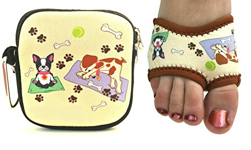 Yoga Skins Neoprene Non Slip Yoga Socks Half Soles with Pouch - Downward Dogi