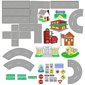 Amazon.com: Places to Go Cars & Roads Felt Figures Learning Kit ...