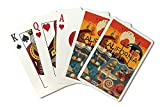 Morro Bay, California - Marine Animals - Geometric (Playing Card Deck - 52 Card Poker Size with Jokers)