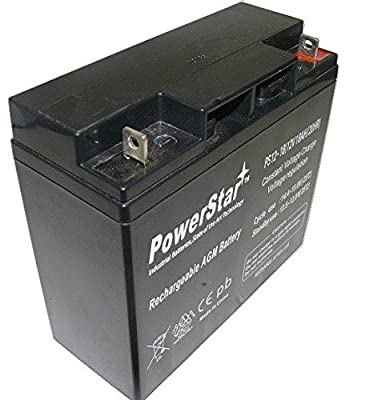 PowerStar PS12-18-103 12V 18Ah SLA Battery for Swisher 24 HP Kawasaki Riding Mower - 2 Years Warranty