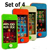 Smart Phone Ring Toss Games (Set of 4) Different Game Scenes and Colors