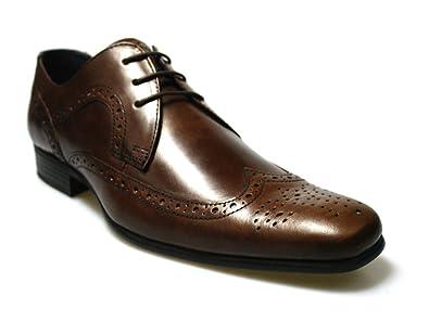 Red Cinta Louth para Hombre marrón Piel Brogue Zapatos UK 7 ...