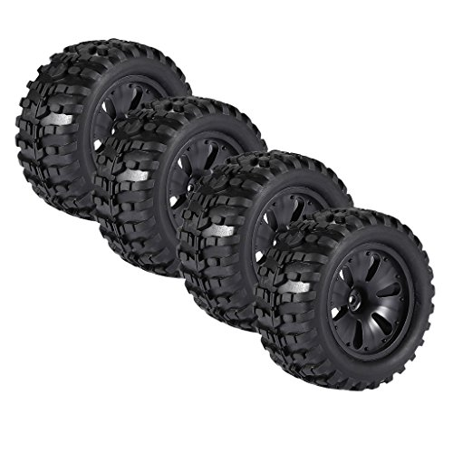 Mt Truck Monster Tires (MagiDeal Pack of 4 Model Monster Trucks Replacement Tires Wheels for 1:10 Savage MT XS HPI RC Car Vehicle Parts)