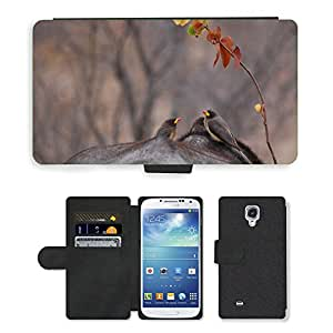 Hot Style Cell Phone Card Slot PU Leather Wallet Case // M00117096 Oxpeckers Birds Nature Buffalo // Samsung Galaxy S4 S IV SIV i9500