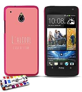 Carcasa Rigida Ultra-Slim HTC ONE MINI (M4) de exclusivo motivo [ alcohol rosa] [Rosa caramelo] de MUZZANO + ESTILETE y PAÑO MUZZANO® REGALADOS - La Protección Antigolpes ULTIMA, ELEGANTE Y DURADERA para su HTC ONE MINI (M4)
