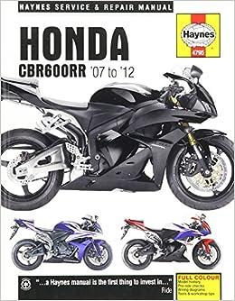Buy Honda Cbr600rr 07 12 Haynes Powersport Book Online At Low