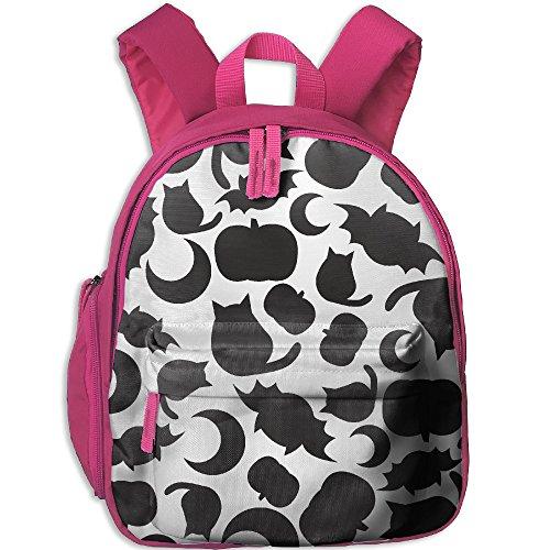 ShaVonNa Children School Bags Halloween Pumpkin Bat Durale Book Bag Backpack -