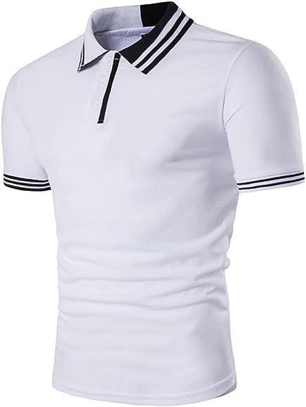STRIR Polo para Hombre Camiseta Manga Larga Casual Ajustada Cuello ...