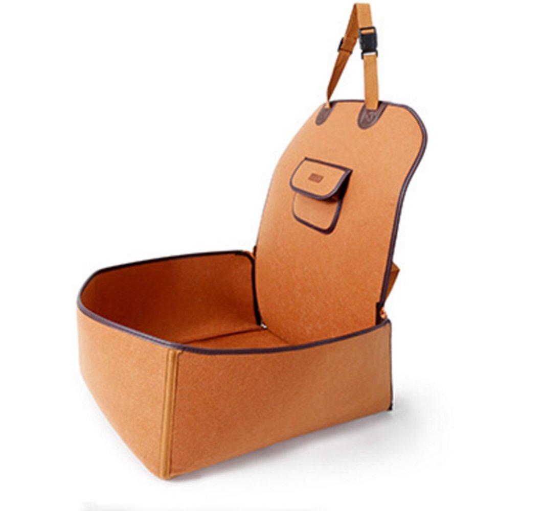 Brown The front single-seat pet car cushion package Pet waterproof car mat (brown)