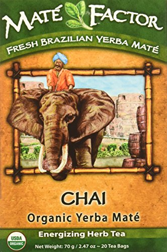 The Mate Factor Organic Yerba Mate Tea Chai -- 20 Tea Bags