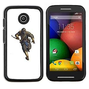 YiPhone /// Prima de resorte delgada de la cubierta del caso de Shell Armor - Killer Hombre Blanco Pc personaje del juego - Motorola Moto E