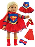 American Fashion World Super Girl Costume for 18-Inch Doll