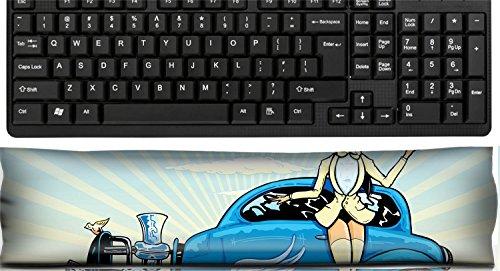 (Liili Keyboard Wrist Rest Pad Office Decor Wrist Supporter Pillow Hotrod To Heaven kustom culture style pin up illustration Photo 4677791)