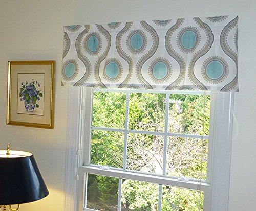 window treatment window curtain window valance aqua u0026 beige