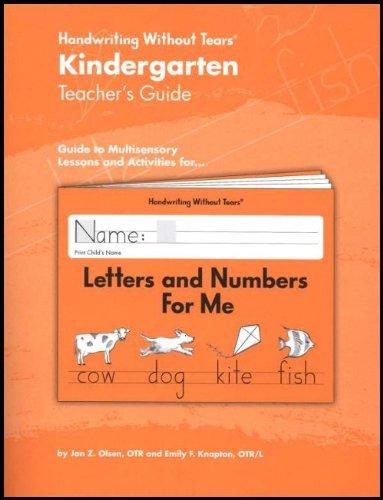 Kindergarten Teacher's Guide Handwriting Without Tears: Jan Olsen ...
