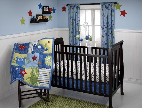 Little Bedding 3 Crib Piece Set, Monster Babies by Little Bedding