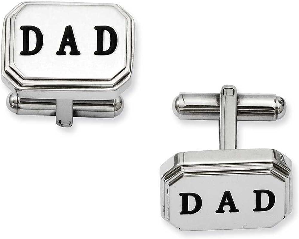 Chisel Stainless Steel Dad Cufflinks