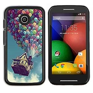 Hasta Globo Casa- Metal de aluminio y de plástico duro Caja del teléfono - Negro - Motorola Moto E / XT1021 / XT1022
