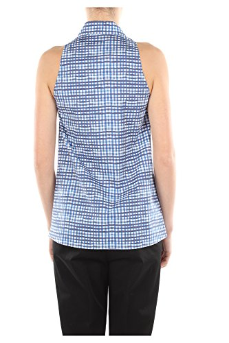 240511AVIOPOPELINE Prada Camisas Mujer Algodón Azul Blu